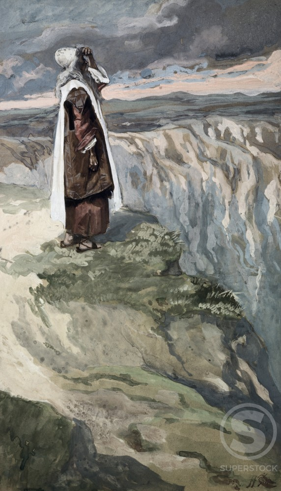 Stock Photo: 999-110 Moses on the Mountain During the Battle