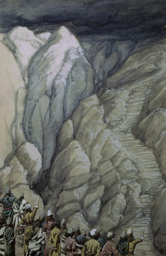 Stock Photo: 999-114 The Cloud of Smoke on Mount Sinai