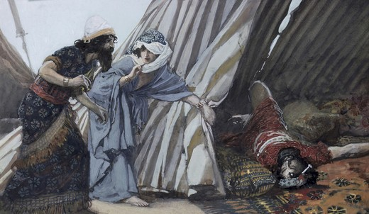 Stock Photo: 999-168 Jael Shows to Barak, Sisera Lying Dead