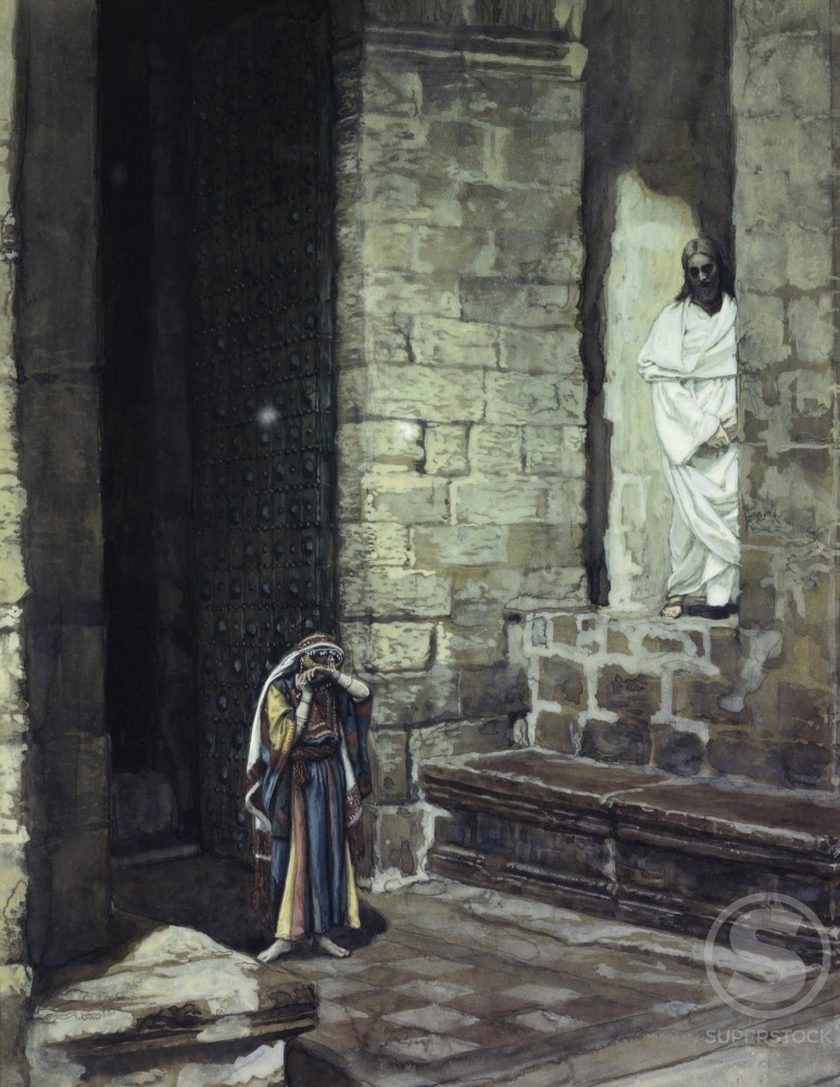 Woman Taken in Adultery Alone with Jesus 