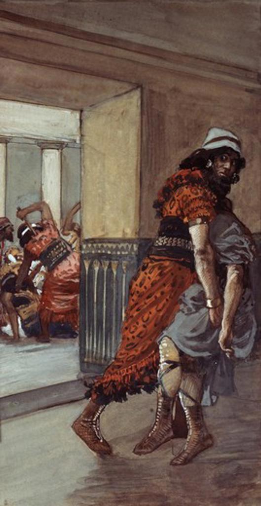 Stock Photo: 999-173 Jotham is Saved James Tissot (1836-1902 French) Jewish Museum, New York