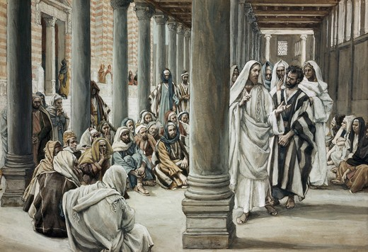 Jesus Walking on Solomon's Porch