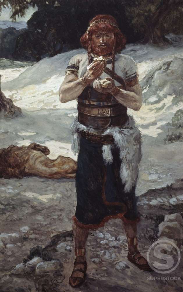 Stock Photo: 999-180 Samson Eats the Honey