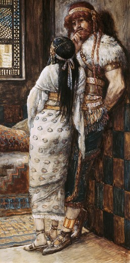 Stock Photo: 999-182 Samson and His Wife