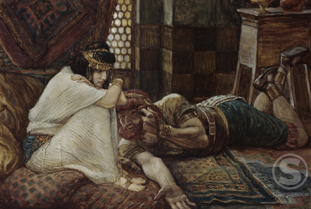 Stock Photo: 999-192 Samson Reveals his Secret to Delilah