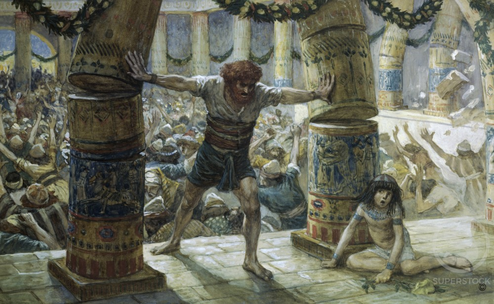 Stock Photo: 999-195 Samson Pulls Down the Pillars