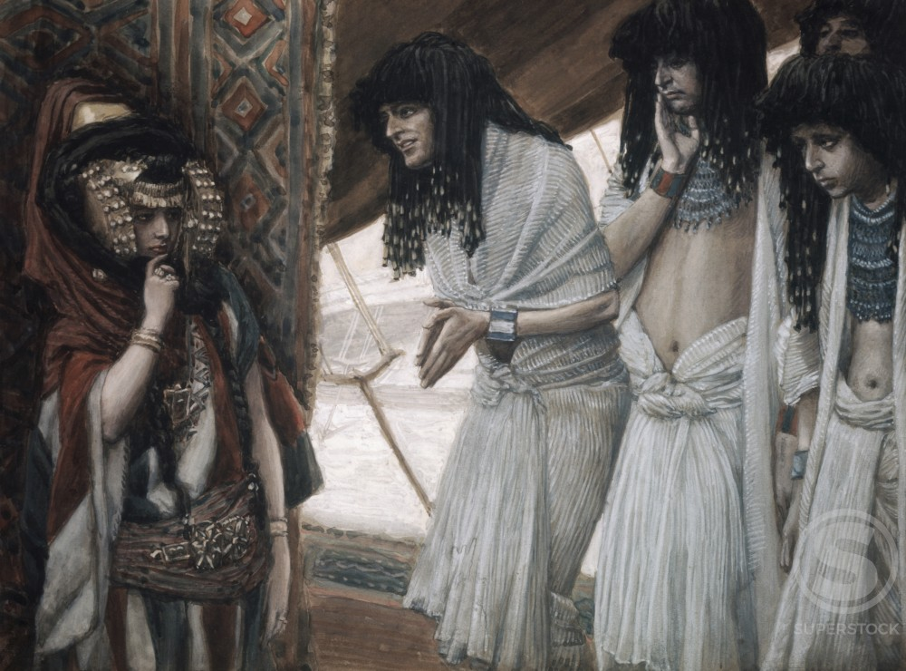 Stock Photo: 999-22 Egyptians Admire Sarah's (Sarai) Beauty