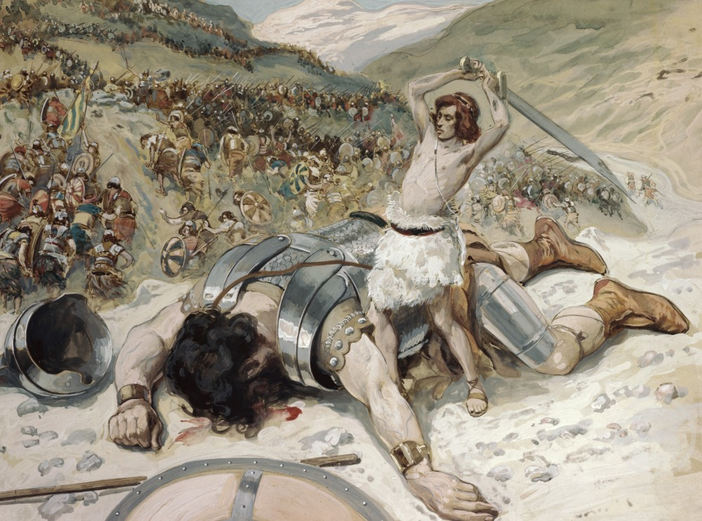 Stock Photo: 999-233 David Cuts off the Head of Goliath