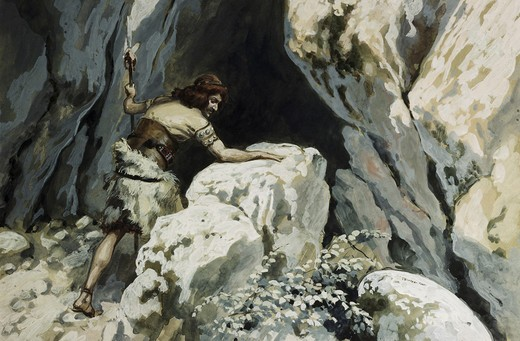 Stock Photo: 999-242 David Goes to the Cave of Abdullam