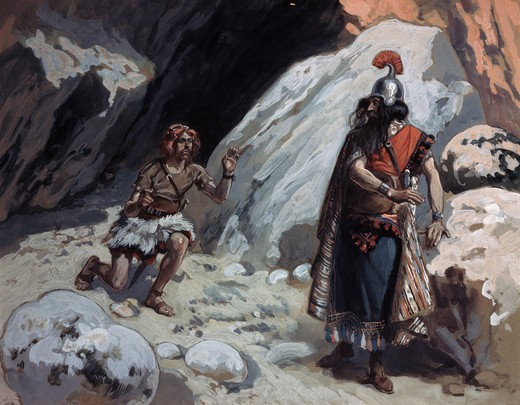 Stock Photo: 999-246 David and Saul in the Cave