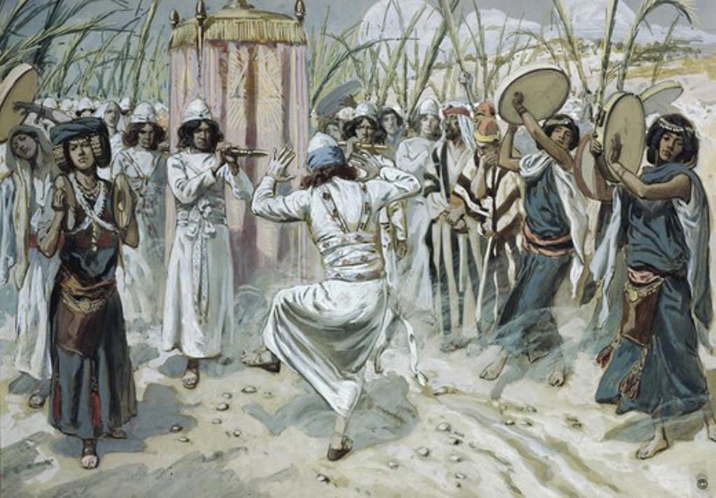 David Dancing before the Ark James Tissot (1836-1902 French) Jewish Museum, New York, USA : Stock Photo