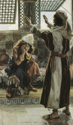Stock Photo: 999-265 Nathan Reproaches David