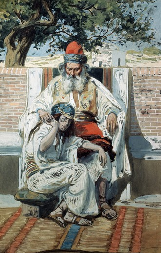 Stock Photo: 999-276 David and Abishag James Tissot (1836-1902 French) Jewish Museum, New York, USA