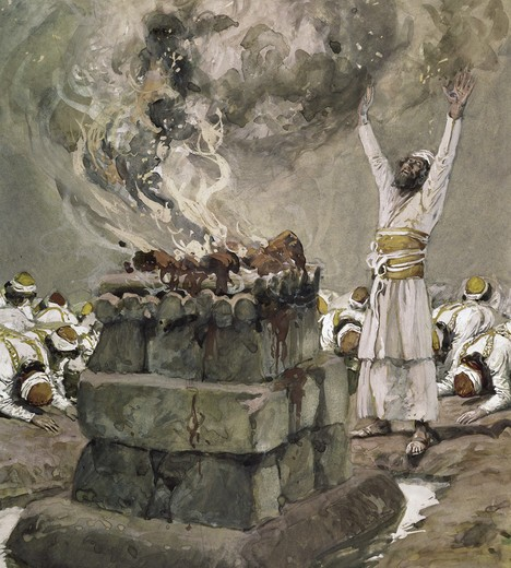 Stock Photo: 999-288 Fire From Heaven Consumes the Sacrifice