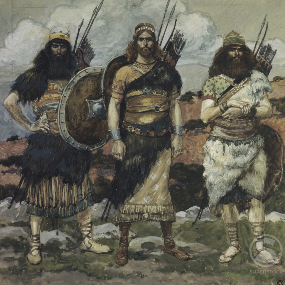 Stock Photo: 999-308 Three of David's Captains