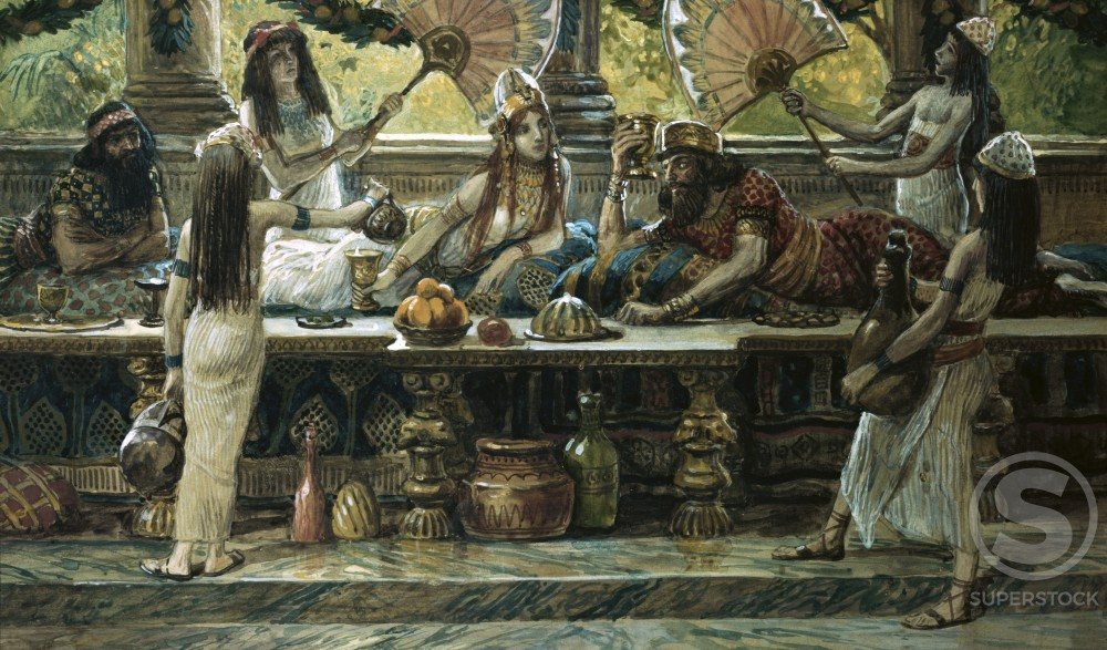 Stock Photo: 999-325 Esther Feasts with the King