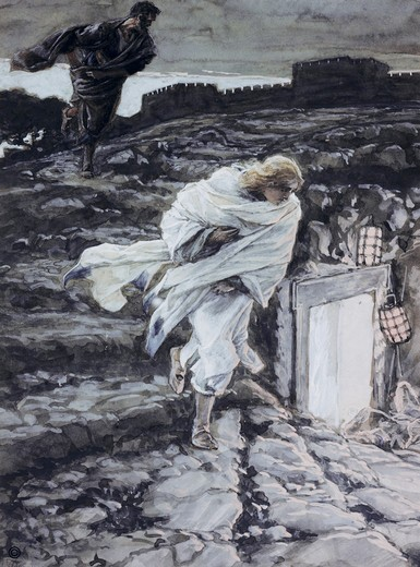 Stock Photo: 999-332 Peter and John Run to the Sepulchre