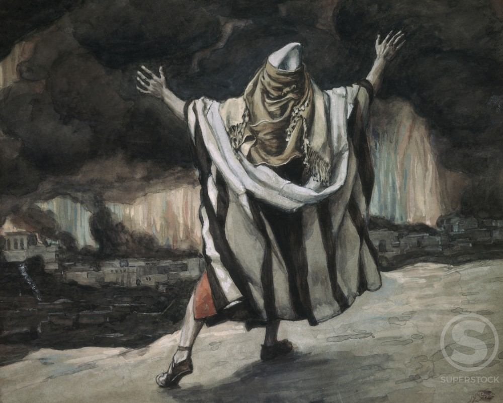 Stock Photo: 999-34 Abraham Sees Sodom in Flames