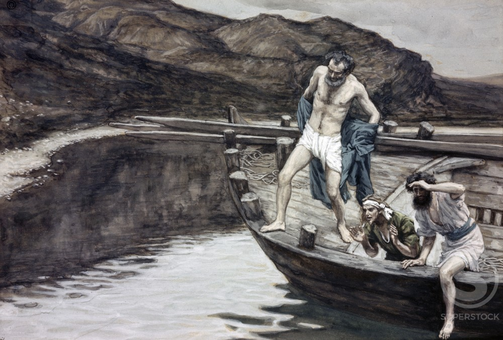 Stock Photo: 999-344 Peter Cast Himelf into the Sea