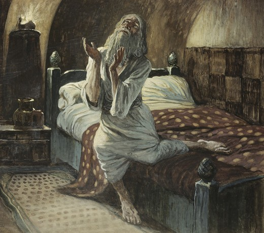 Stock Photo: 999-348 David Praying in the Night