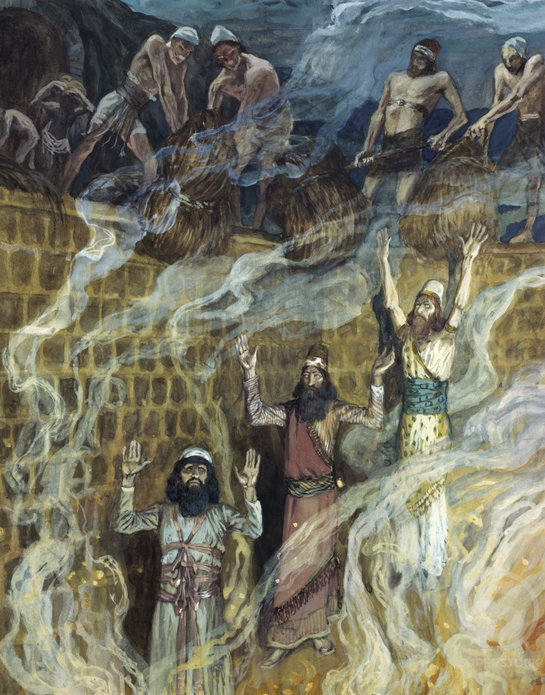 Stock Photo: 999-359 In the Fiery Furnace