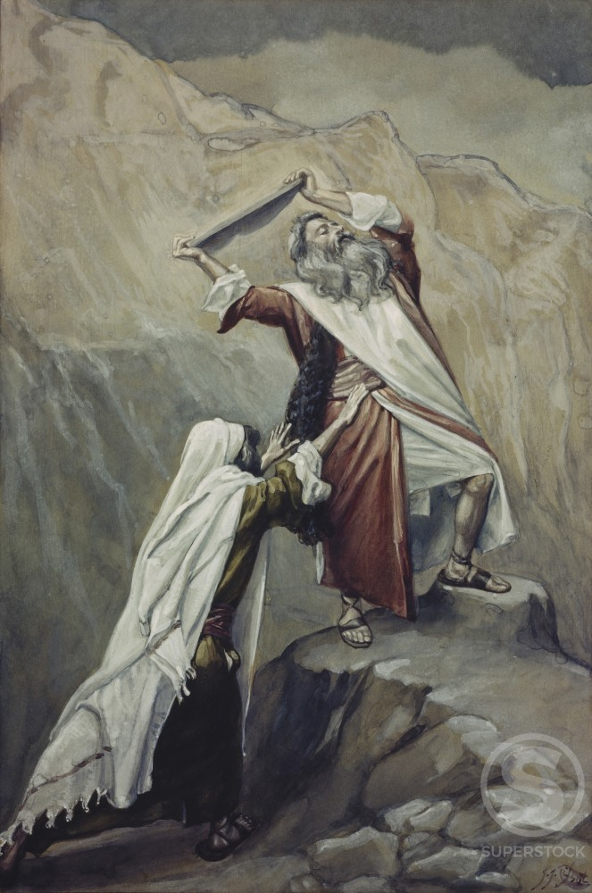 Moses Destroys the Tablets of the Ten Commandments