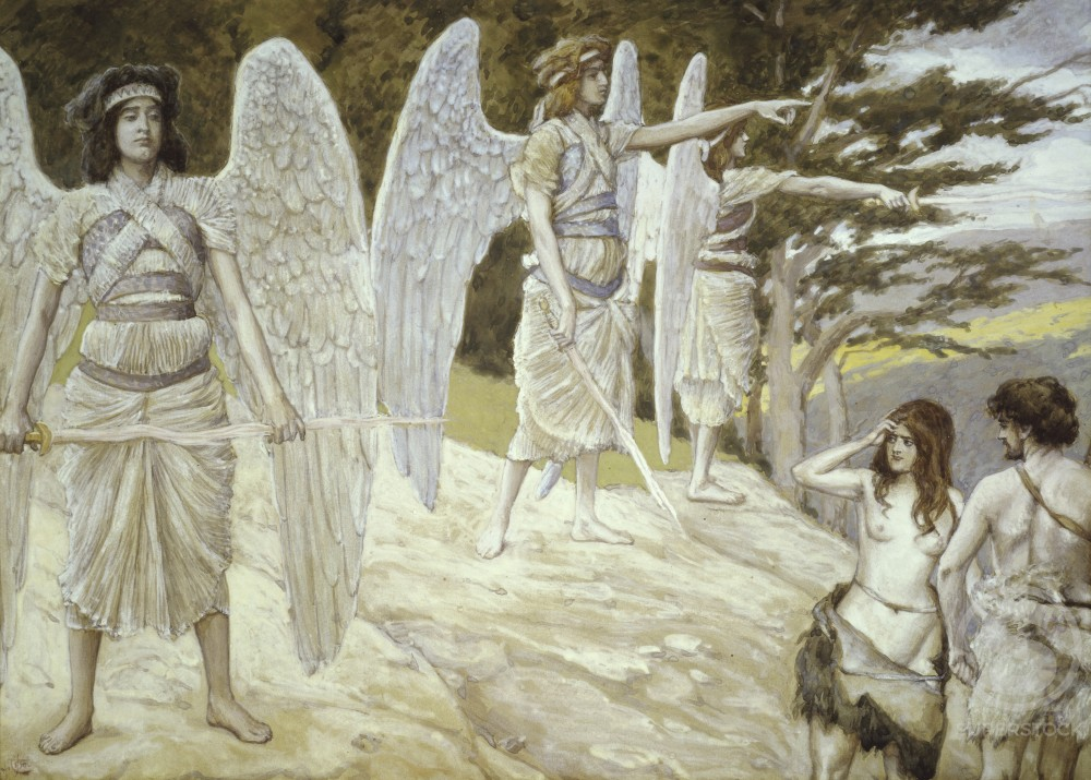 Stock Photo: 999-4 Adam and Eve Driven from Paradise