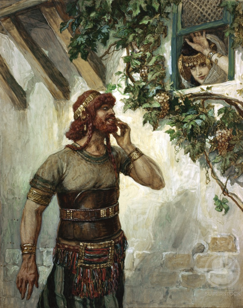 Stock Photo: 999-400 Samson Seeth Delilah at her Window