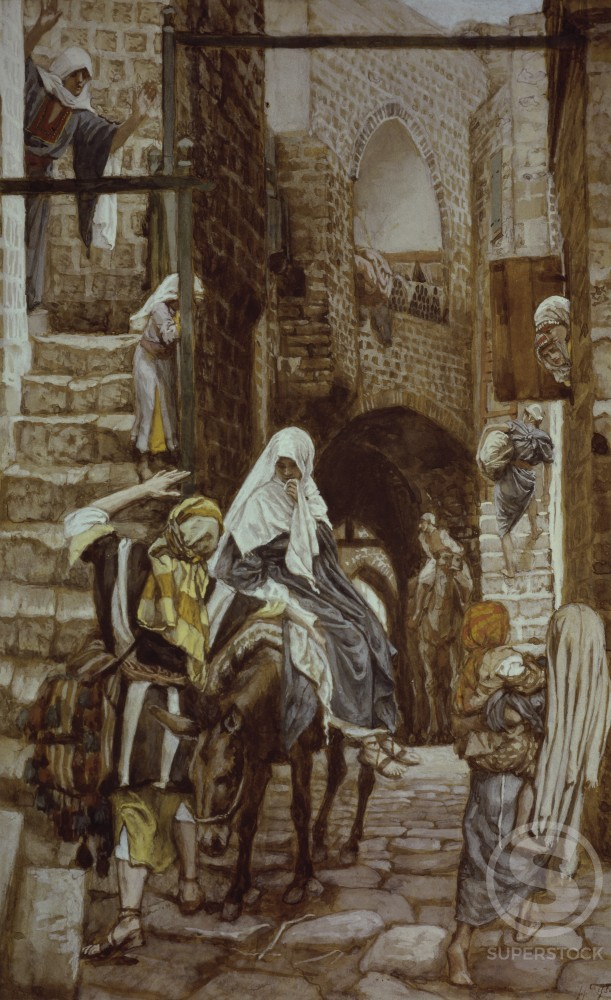 Stock Photo: 999-428 Joseph Seeks Lodging at Bethlehem