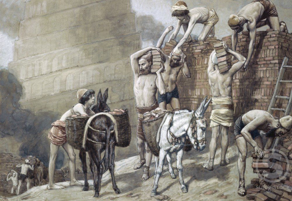 Stock Photo: 999-452 Building the Tower of Babel  James J. Tissot (1836-1902/French)  Jewish Museum, New York