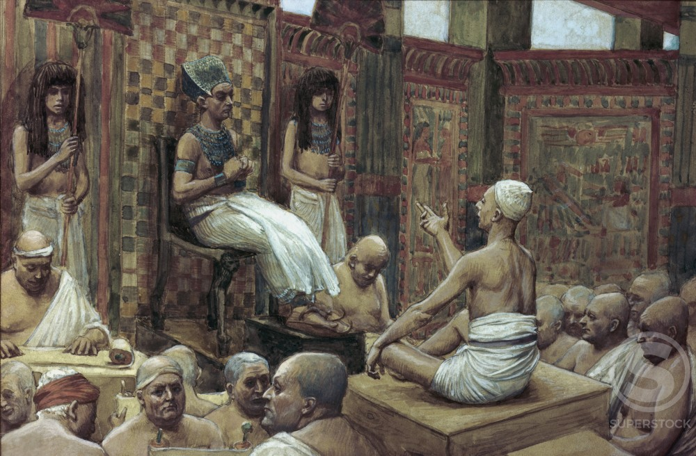 Stock Photo: 999-464 Joseph Interprets Pharaoh's Dream 