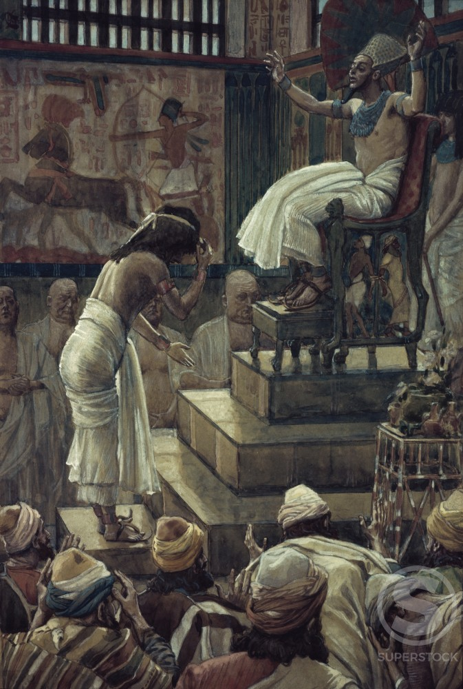 Stock Photo: 999-469 Joseph and his Brethren Welcomed by Pharaoh 