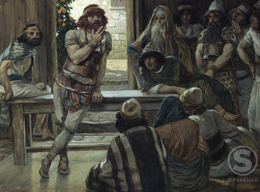 Stock Photo: 999-497 Samson Puts Forth a Riddle 