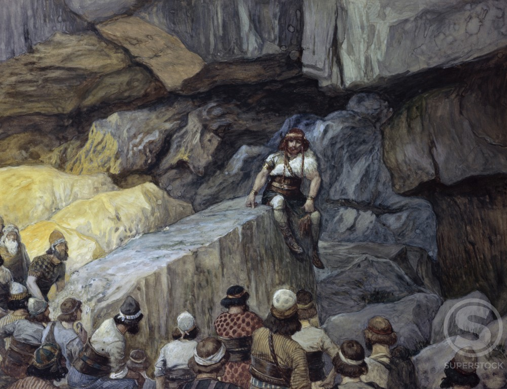 Stock Photo: 999-504 Samson in the Caves of Etam