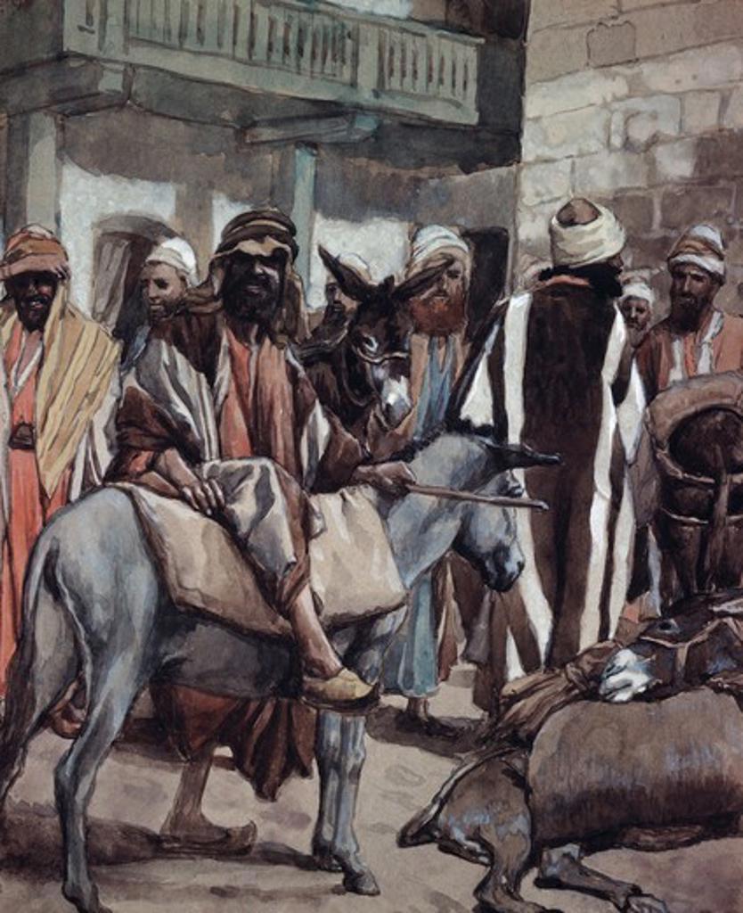 Stock Photo: 999-64 Joseph Sends his Brethren Away with Full Sacks James Tissot (1836-1902 French) Jewish Museum, New York City