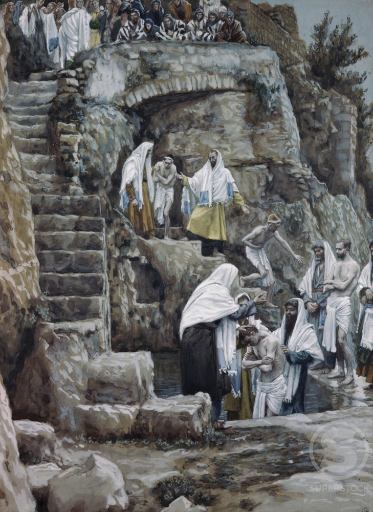 Stock Photo: 999-66 The Disciples of Jesus Baptizing 