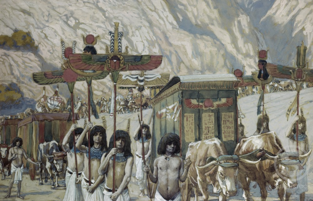 Stock Photo: 999-73 Jacob's Body is Taken to Egypt  James J. Tissot (1836-1902/French)  Watercolor on Paper  Jewish Museum, New York