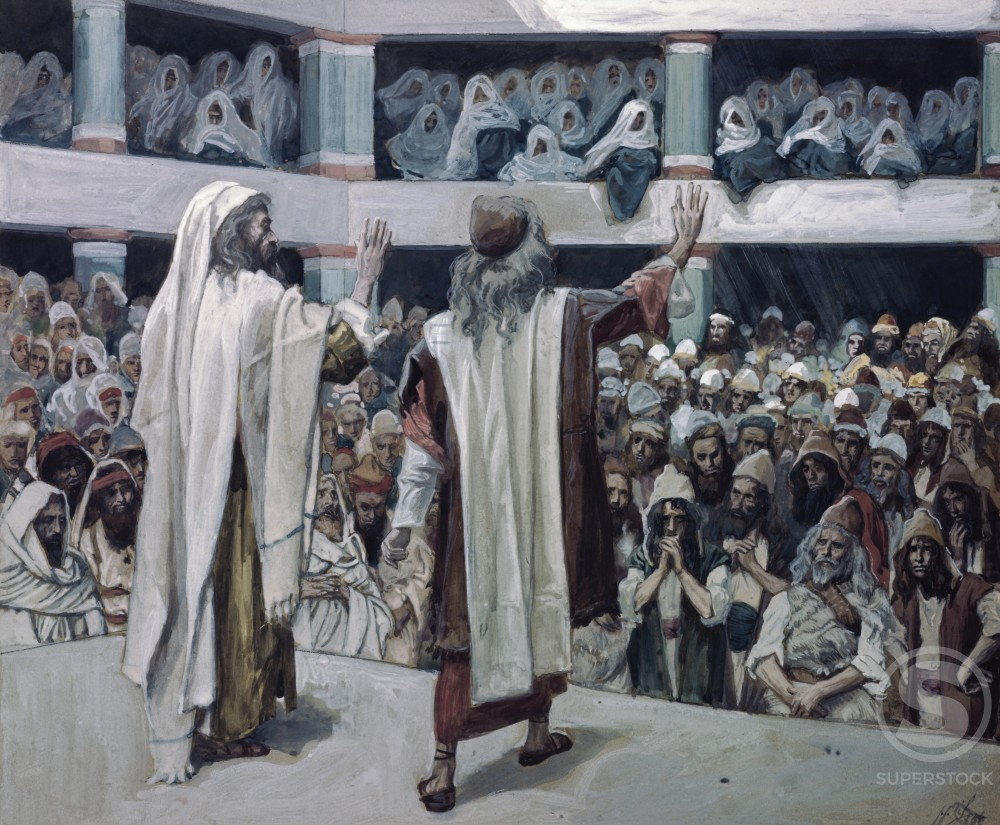 Moses and Aaron Speak to the People  Watercolor on paper  James J. Tissot (1836-1902/French)  Jewish Museum, New York  : Stock Photo