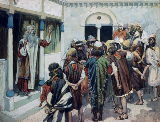 Stock Photo: 999-89 Moses Speaks to the People