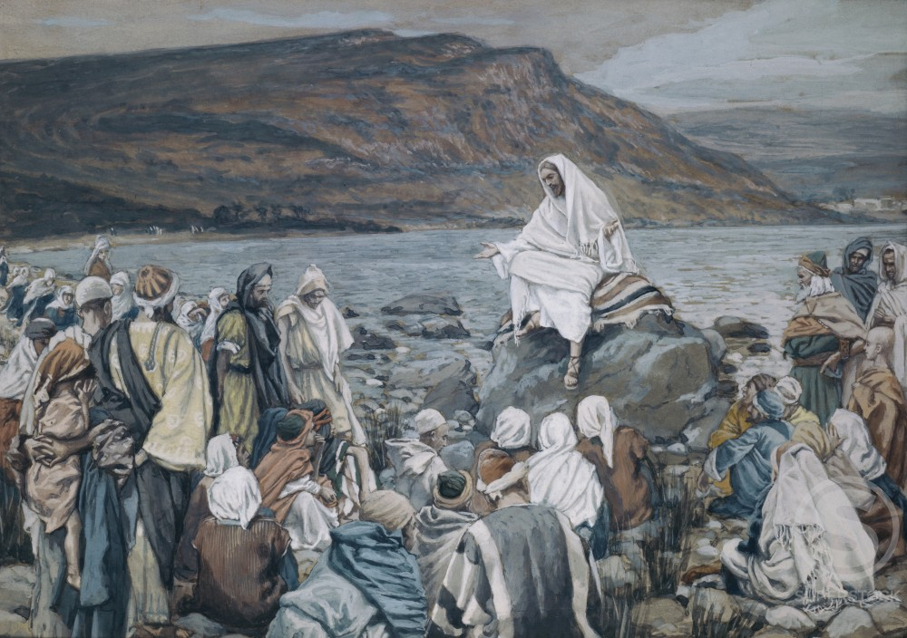 Stock Photo: 999-90 Jesus Teaching by the Seashore 