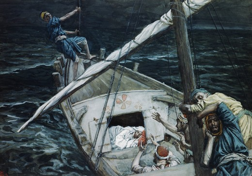 Stock Photo: 999-9101 Jesus Asleep During the Storm
