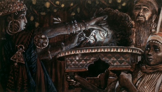 Stock Photo: 999-9132 Head of John the Baptist on a Charger