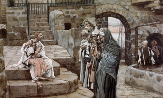 Stock Photo: 999-9150 Jesus and the Little Child