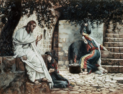 Stock Photo: 999-9164 Magdalene at the Feet of Jesus
