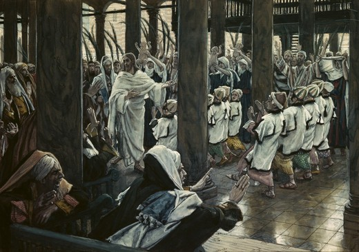 Stock Photo: 999-9195 Multitude in the Temple