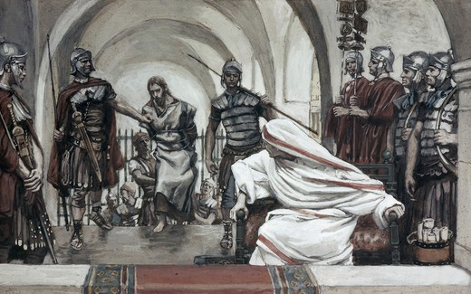 Stock Photo: 999-9262 Jesus Led Back from Herod to Pilate