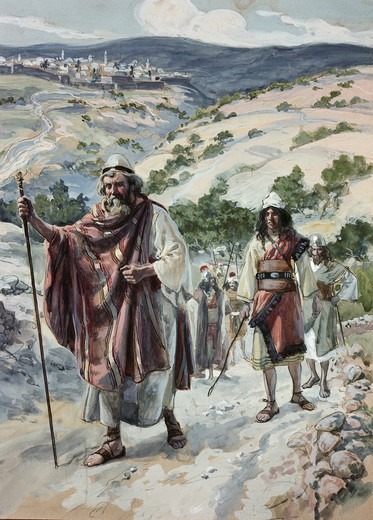 Stock Photo: 999-9270 David Quits Jerusalem