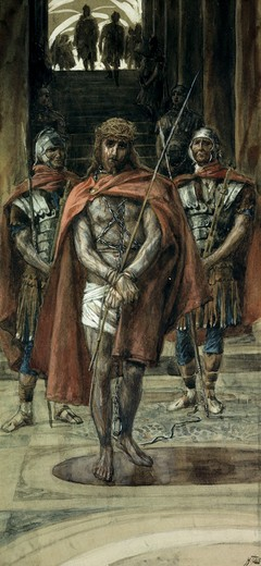 Stock Photo: 999-9273 Jesus Leaves the Judgement Hall