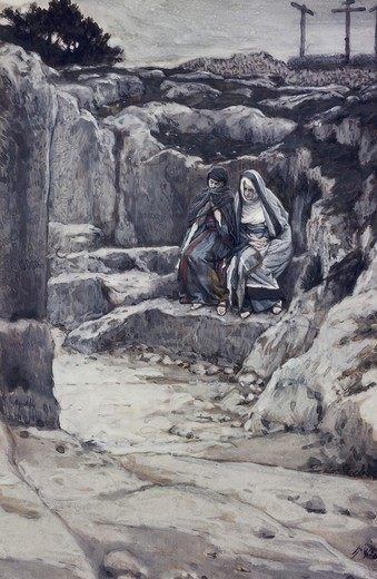 Stock Photo: 999-9326 Two Marys' Watch the Tomb of Jesus