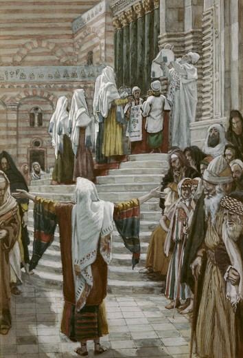 Stock Photo: 999-9927 Presentation of Christ in the Temple James Tissot (1836-1902/French) Watercolor Jewish Museum, New York, USA